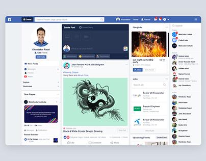 Facebook Re-Design Concept