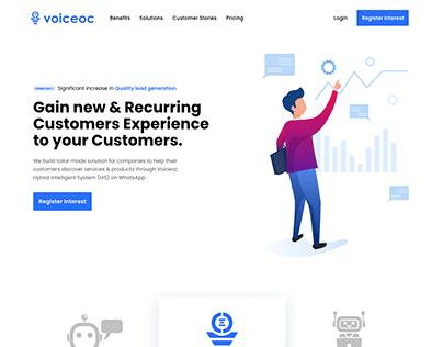 Customer Management Website UI