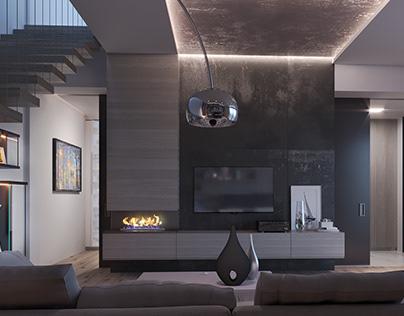 Interior design for single family house