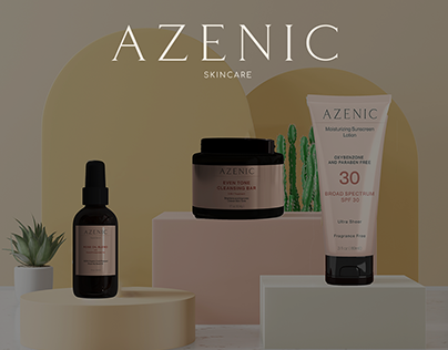 Azenic Skin Care   Brand Identity