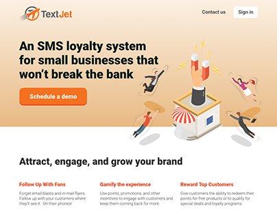 SMS Loyalty System Landing page