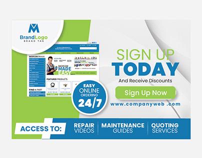 online marketing web banner design