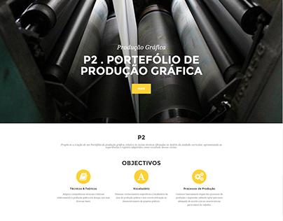 Portefólio Produção Gráfica