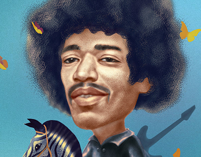 Portrait of Jimi Hendrix