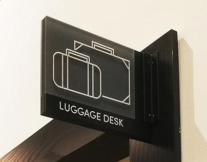 The Hotel Signage Program