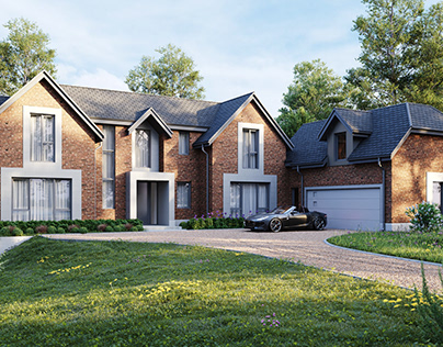 Exterior visuals for a project in Crewe, Audlem