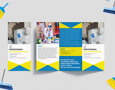 CLEANING SERVICES Tri-fold Brochure