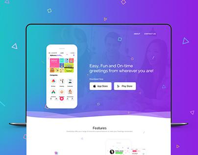 GreetlyApp™ - Website Redesign