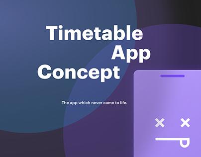 Timetable App Concept
