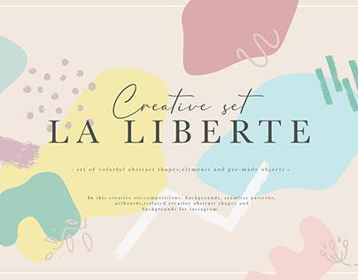 """Creative abstract set """"La Liberte"""""""