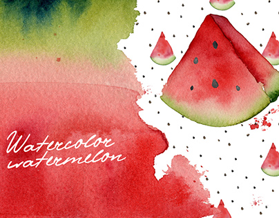 Watercolor watermelons Clip Art