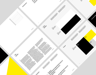 Brand Identity Guidelines Grid System for InDesign