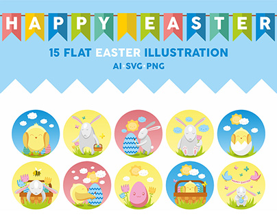 Easter – vector pack of 15 quality and beautiful icons.