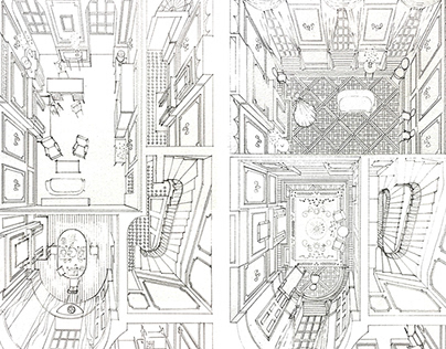 3D Pencil Interiors