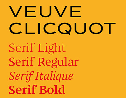 Veuve Clicquot Bespoke Typefaces
