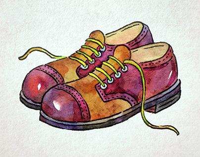 Watercolor illustration for children's book