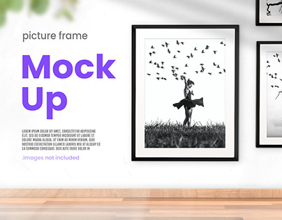 Modern Interior Picture Frame Mockup Collection