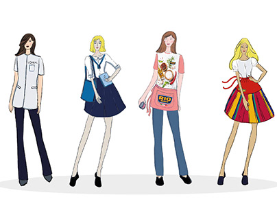 Hostess fashion concept and a promotional action visual