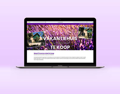 One-page website verkoop vakantiehuis