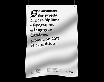 Esadtype poster [graphic design, poster]
