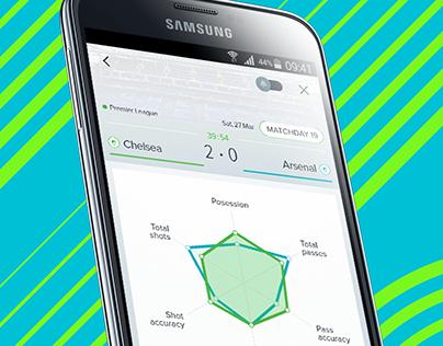 Samsung Kick app UI