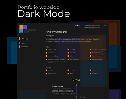 Light Mode / Dark Mode - My portfolio website projects.