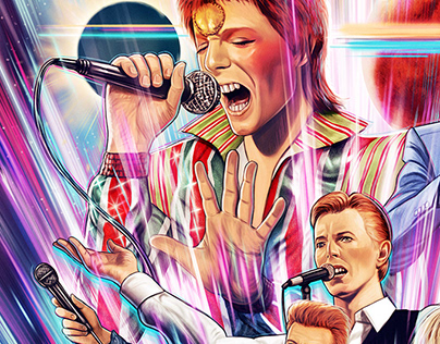David Bowie (officially licensed screen print)