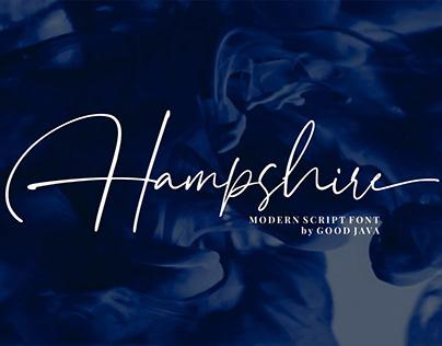 Free Hampshire Script Font