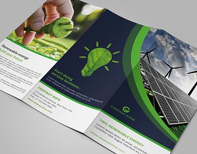 Green Energy Tri-Fold Brochure