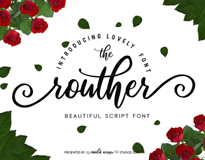 The Routher - Beautful Script Font