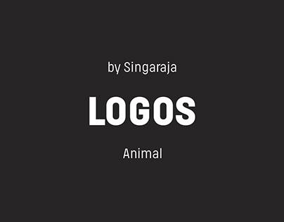 A collection of animal logo concept