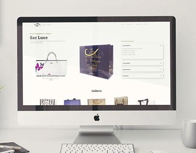 Web Design for Bag Image