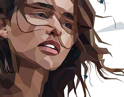 Khaleesi Polygonal Portrait - Game of Thrones