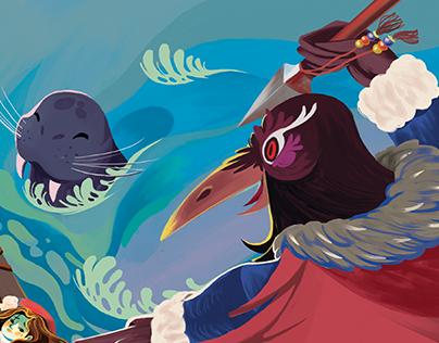 Storytime Magazine-Sedna the Sea Goddess-illustrations