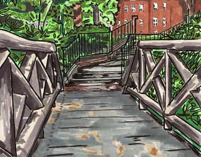 Foot Bridge at Allegheny College