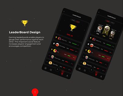 Leaderboard Design