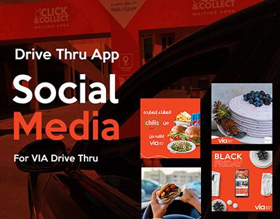 Social Media For VIA Drive Thru