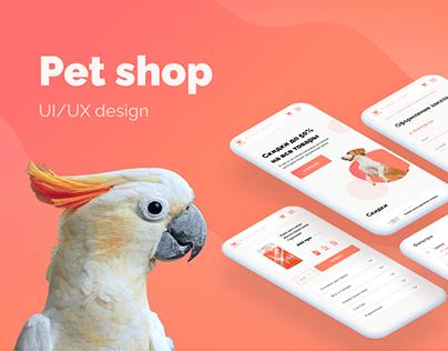 Pet shop UI/UX design