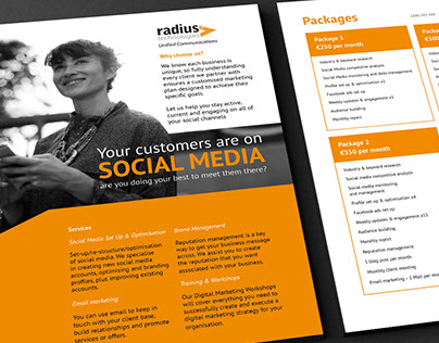 Radius Technologies Social Media Flyer