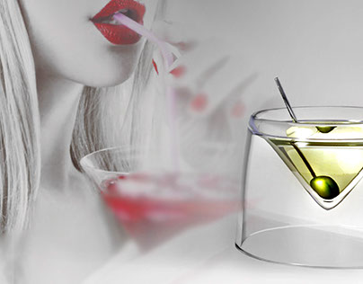 Glass design - Martini and liquor glass