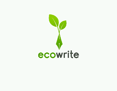 Eco Write Logo Concept