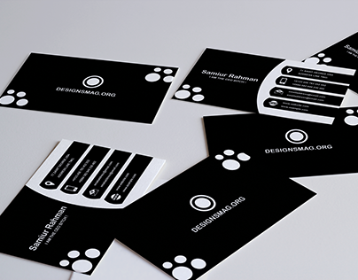 Black & White Footstep Business Card