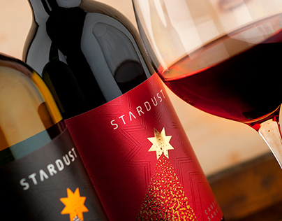The Stardust wine label design by the Labelmaker