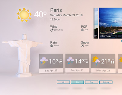 VR Concept for Immersive Weather Forecast