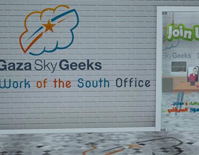 Gaza Sky Geeks teamwork