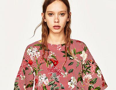 ZARA - floral top & dress