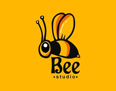 Bee logo | Studio logo | Modern Mascot logo