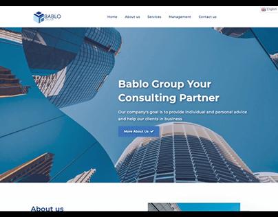 Website project, Web design Bablo-Group