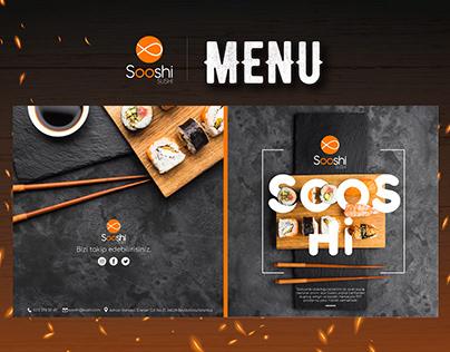Sooshi Sushi Menü Tasarımı- Sooshi Sushi Menu Design