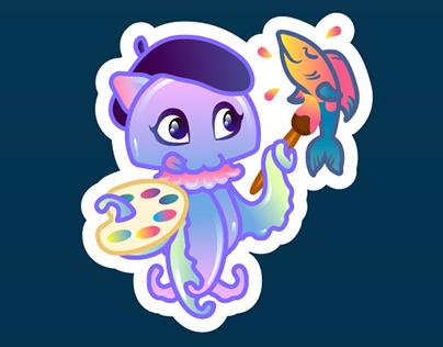 MEDUZA Challenge. Jellyfish stickers